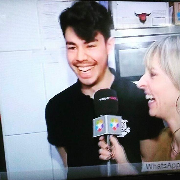 Así de feliz estaba Saimon en el reportaje de @madridcontigo de @telemadrid de esta mañana en #ramenkagura