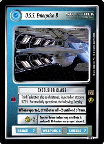 STAR TREK CCG 1E TMP MOTION PICTURES USS ENTERPRISE -B 115U @ niftywarehouse.com #NiftyWarehouse #StarTrek #Trekkie #Geek #Nerd #Products