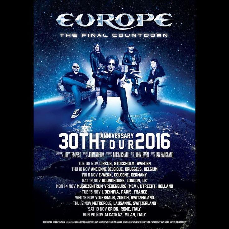 Europe à Paris Olympia le 15 novembre