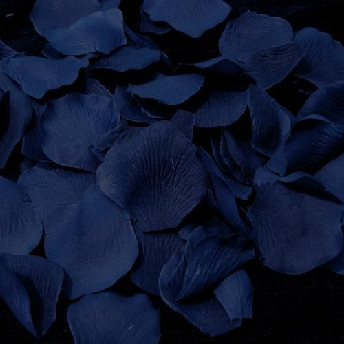 Navy Blue Flower Petals