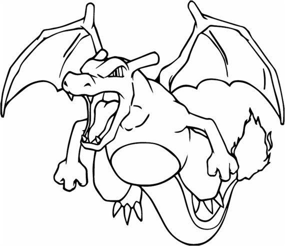 glurak pokemon vinylwandtattoo von blackcatdesignsco auf