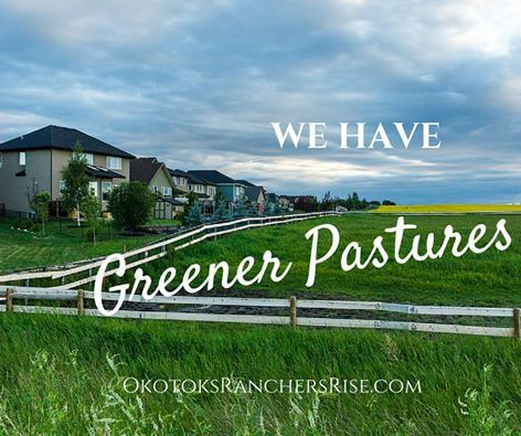 Feeling crowded in the city? Maybe it's time to move to Greener Pastures – literally. Come and check out our show homes  http://www.okotoksranchersrise.com/new-home-awaits-ranchers-rise