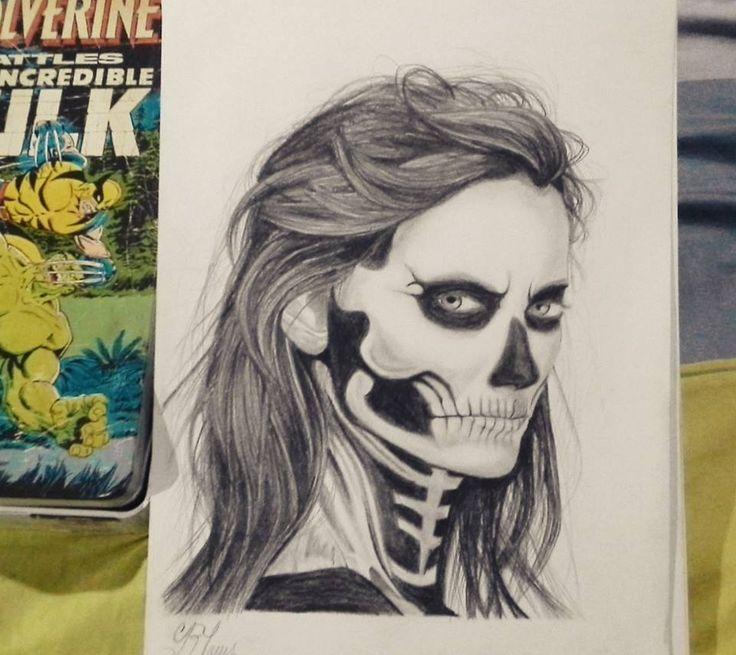 skull face artwork, by Geromorris