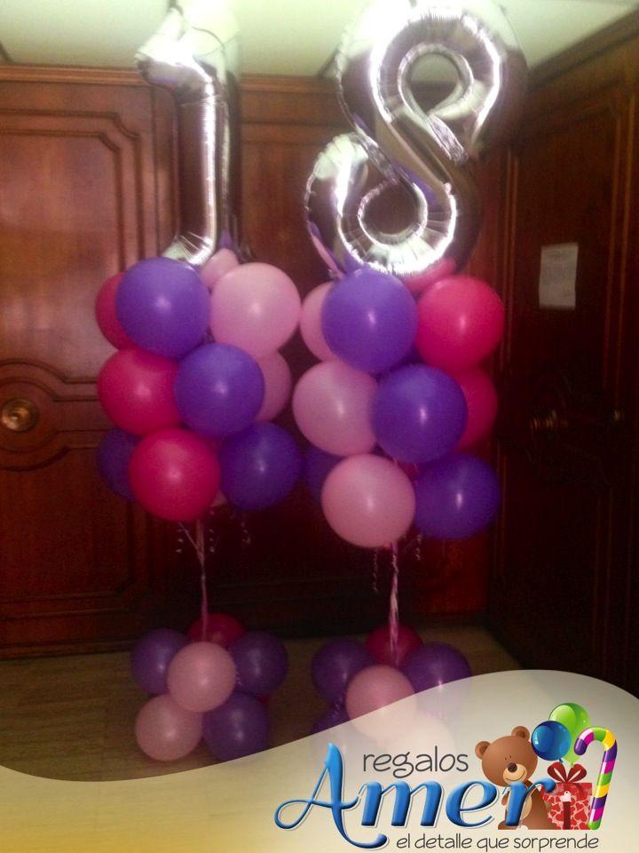 cumpleaos nmero con globos regalos amer comparte