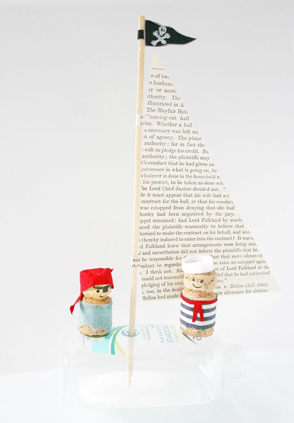 DIY Kids Cork Sailors and Pirates