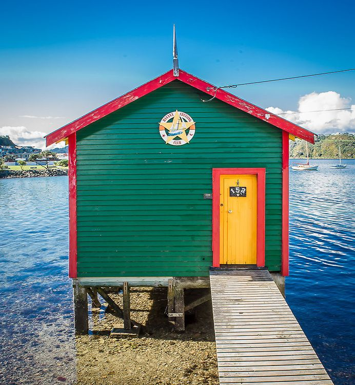 Evans Bay Boat Shed, Wellington, New Zealand. Ref: NZNW169103