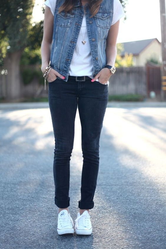 Love these jeans. I like more of a straight leg or a looser fitting skinny jean. My scrawny legs are the one thing that I'm always worried about.