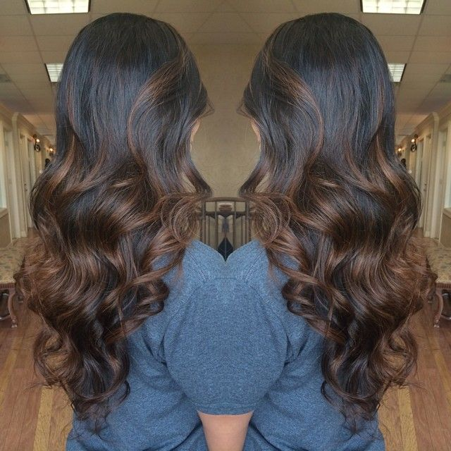 A gorgeous chocolate swirl balayage