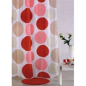 Tenda Doccia in Poliestere impermeabile 240X200 MULTICOLOR MAURER con ganci: Amazon.it: Casa e cucina