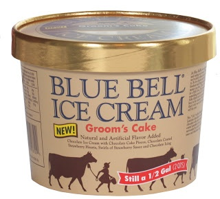 Blue Bell Grooms Cake Ice Cream