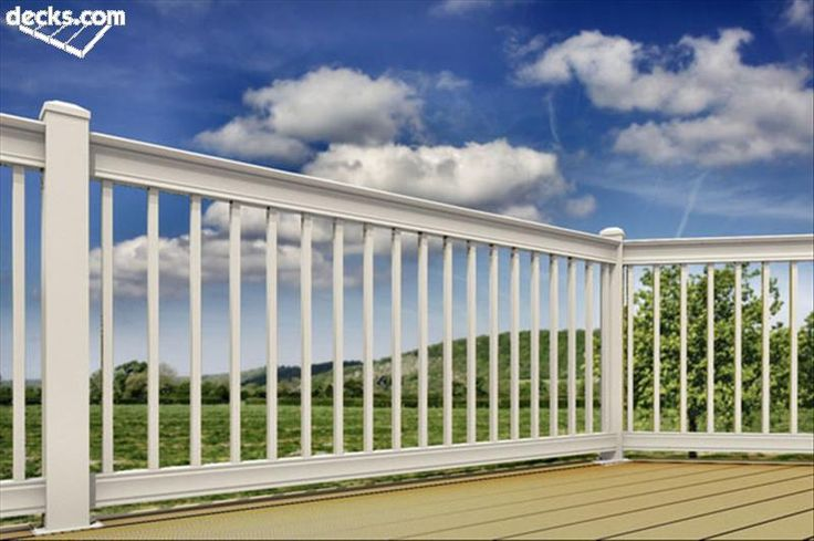 White Aluminum Deck Railing Wood See 100s of Deck Railing Ideas http://awoodrailing.com/2014/11/16/100s-of-deck-railing-ideas-designs/