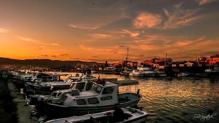 Çanakkale sarıçay da Balıkçı Tekneleri