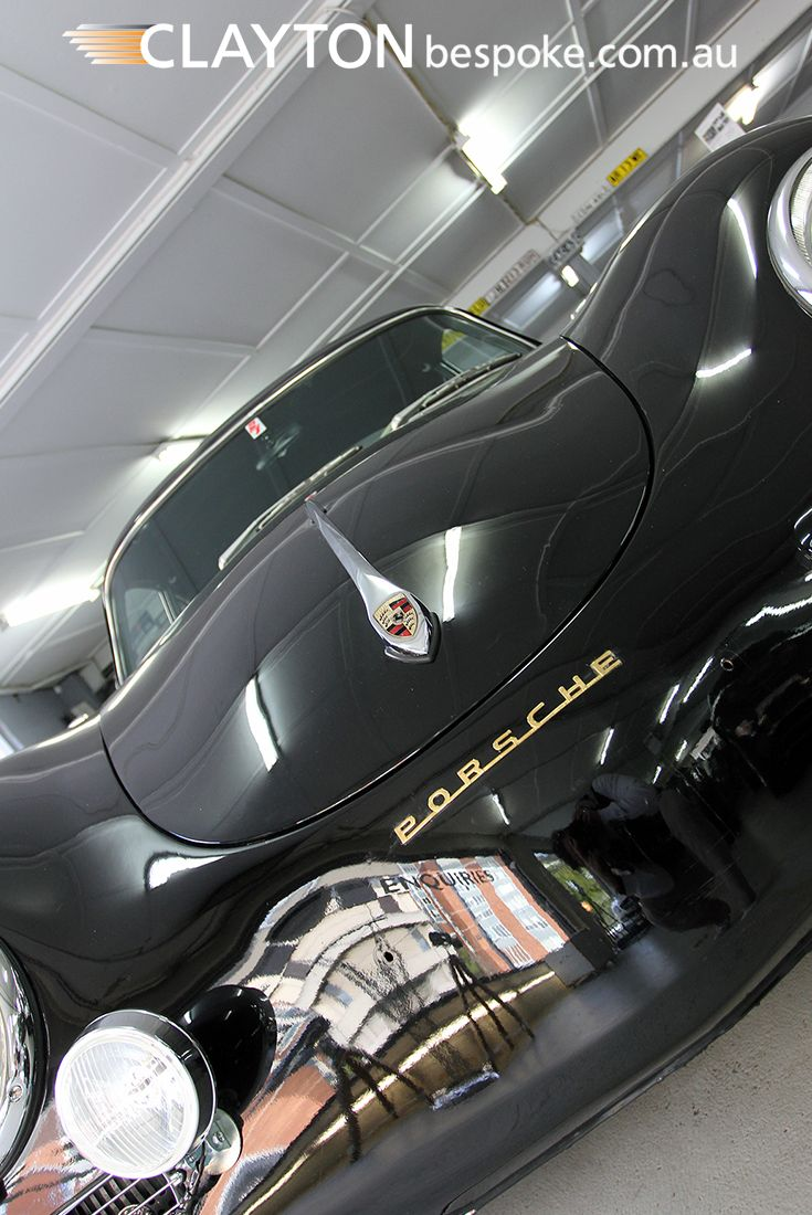 1957 Porsche 356 A, Black on Black and absolutely stunning...