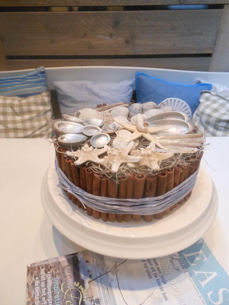 Een schelpentaart gebakken!