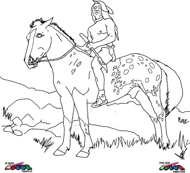 Horses016 coloring pages and you can find many more like ...