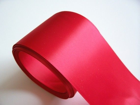Offray Red Satin Ribbon 3 Inches Wide X 3 Yards Single Face Extra