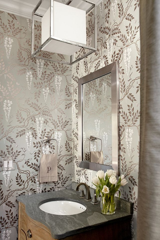 powder room wallpaper, Egerton by Cole & Son