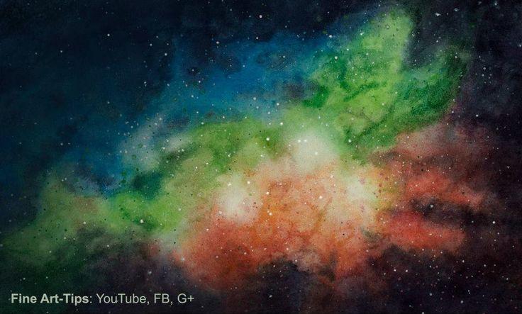 How to Paint a Galaxy With Watercolor - a Nebula - Universe #art #painting #watercolor #FineArtTips #galaxy #nebula #artistleonardo #LeonardoPereznieto #tutorial Take a look to my book here: http://www.artistleonardo.com/#!ebooks-english/cswd