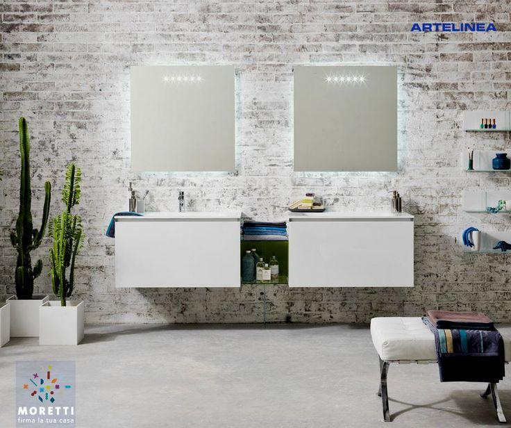 Bagno Con Vasca E Doccia Rivestito Stile Retro Interior Design : Oltre fantastiche idee su specchi bagno pinterest