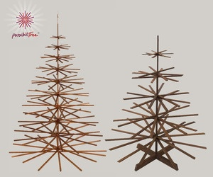 Available in walnut, cherry or birch and two sizes, the fold-able, easy to store and inspired design makes this modern wood tree, The PossibiliTree, a best pick for contemporary Christmas decor.