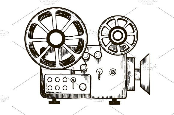 Retro Cinema Projector Vector Illustration Ad Affiliate Cinema Retro Projector Illustration In 2020 Graphics Inspiration Illustration Vector Illustration