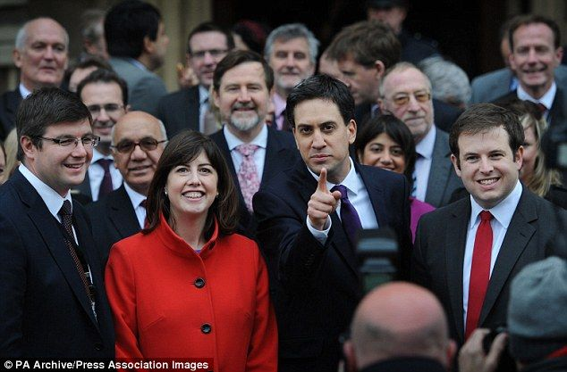 Lucy Powell, Labour MP for Manchester Central, said she had to call Ed Miliband (pictured together centre in 2012) after the exit poll in a bid to keep him 'positive' and said the defeat to the Tories was still 'incredibly raw'