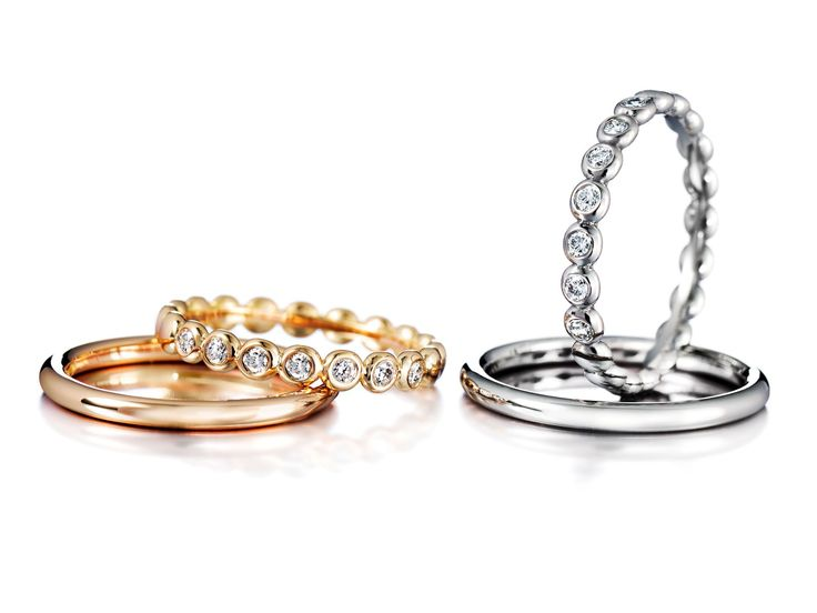 Gold ring with or without diamonds