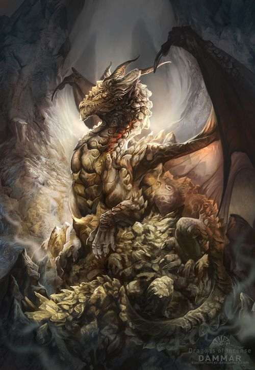 "Dragons:  ""Dragons of Incense --- Dammar,"" by *AlectorFencer."