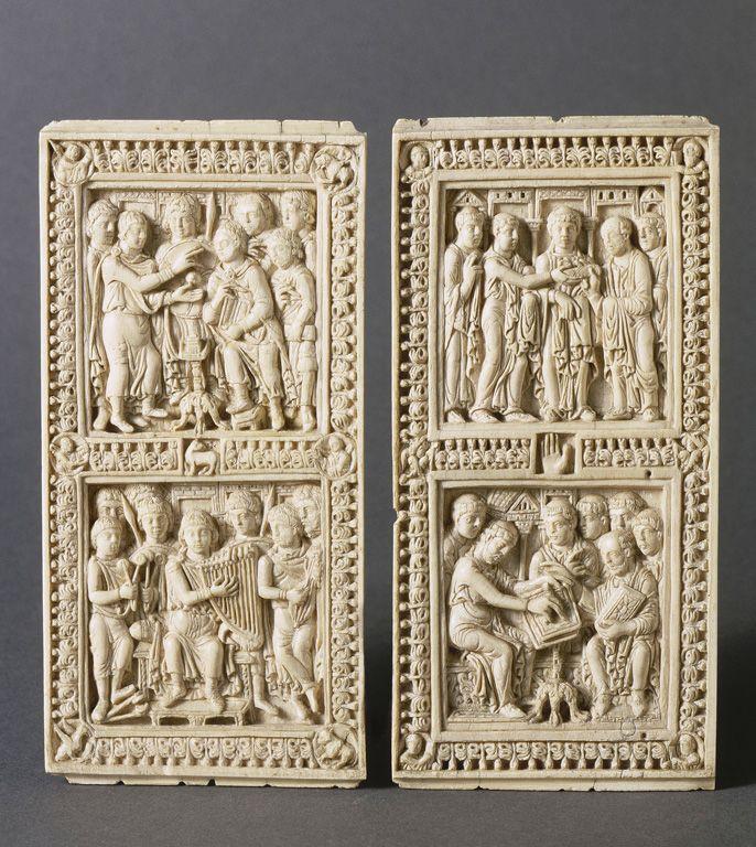 3. plaquettes d'ivoires de la reliure de Dagulf