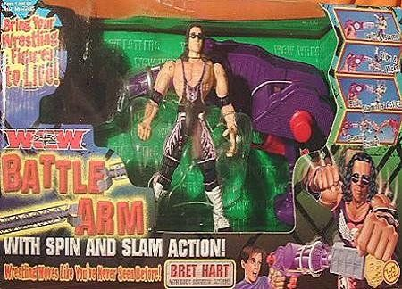 WCW Battle Arm with Spin and Slam Action with Bret Hart Action Figure -- Click on the image for additional details.