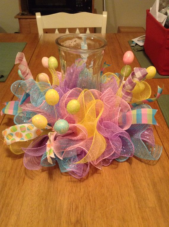 Hey, I found this really awesome Etsy listing at https://www.etsy.com/listing/224251954/easter-table-centerpiece-easter-mesh