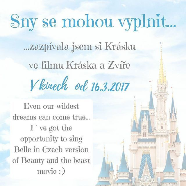Dreams come true! So happy :-) Sny se mohou vyplnit :-) Zazpívala jsem si Krásku :-) #zpev #zpevacka #kráskaazvíře #kraskaazvire