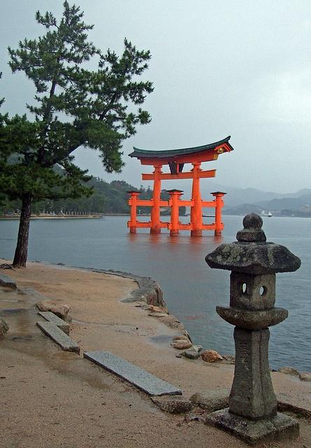 The shrine gate - Miyajima Island - Hiroshima, Japan