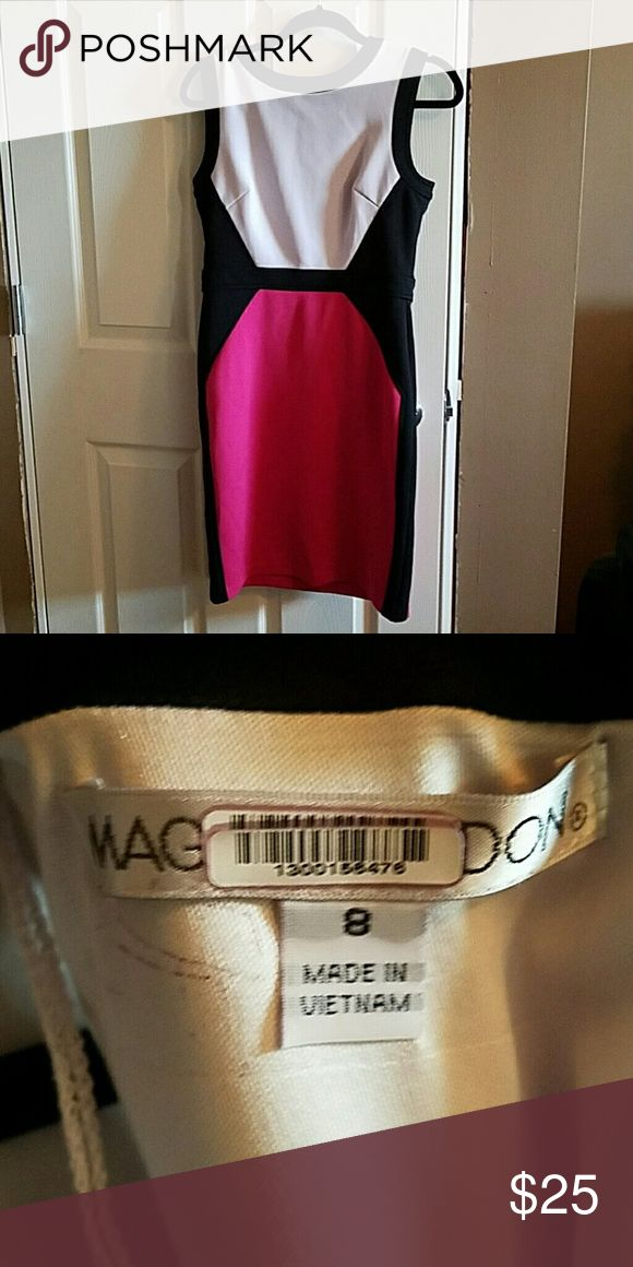 Maggy London Pink and Black Dress Sheath dress for work, fresh from cleaners Maggy London Dresses