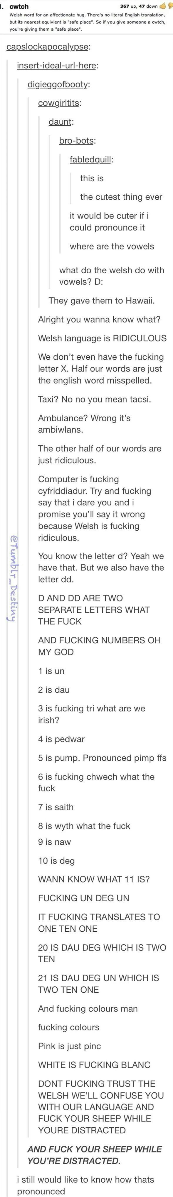 The welsh language xD xD