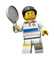 LEGO Olympic Minifigures: Olympic Tennis Player by LEGO. $8.95. Year: 2012. Collect every gold-medal contender in the Team GB LEGO Minifigures series! Capture the bronze, silver and gold with this all-new, exciting team of 9 Team GB LEGO Minifigures, each with their own special accessories!