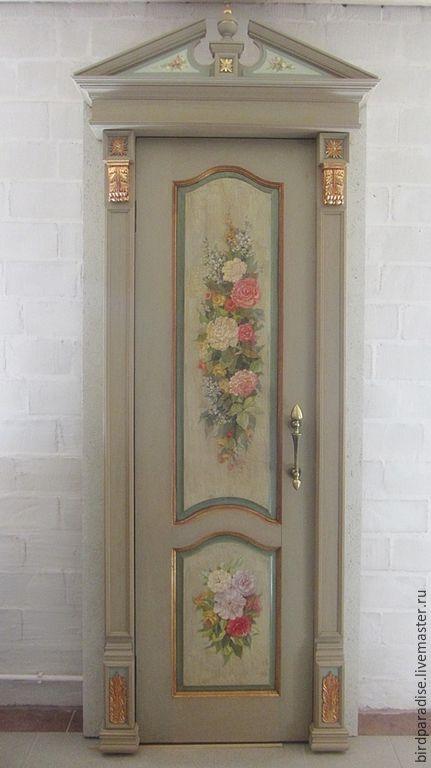 Купить Роспись дверей, изготовление порталов. Двери для дома. - серый, дверь, дверь с росписью