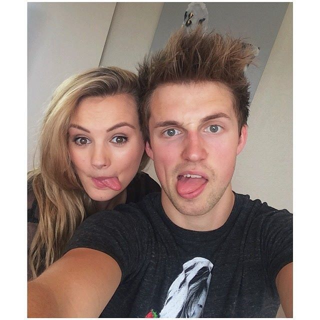 Marcus Butler and his girlfriend, Niomi Campbell <3