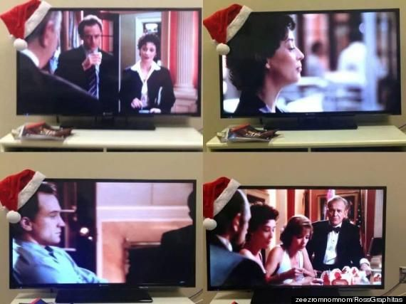 Santa Hat Drinking Game - Place a Santa hat on the corner of your TV and every time someone wears it... Drink.
