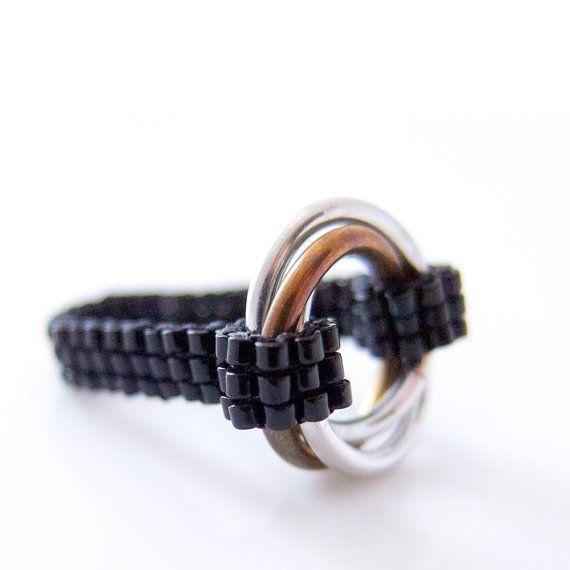 Infinity Ring Silver Infinity Ring Silver Chainmail Ring