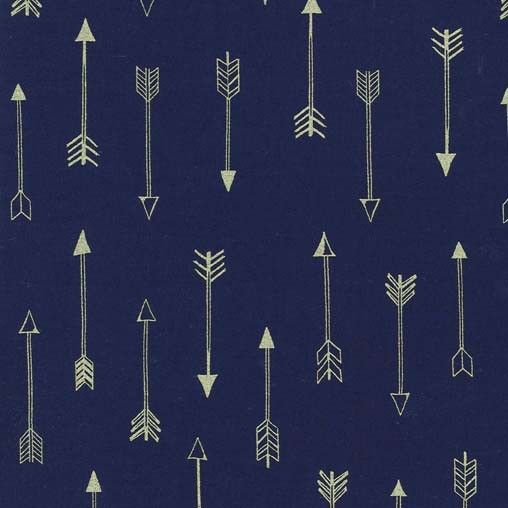 Fabric... Arrow Flight Arrows in Midnight Blue by Michael Miller Fabrics