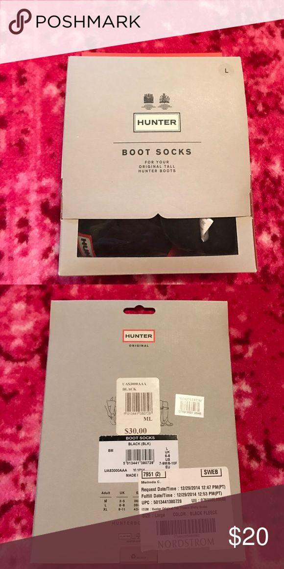 Hunter Rain Boot Socks Fleece// size large Hunter Boots Other