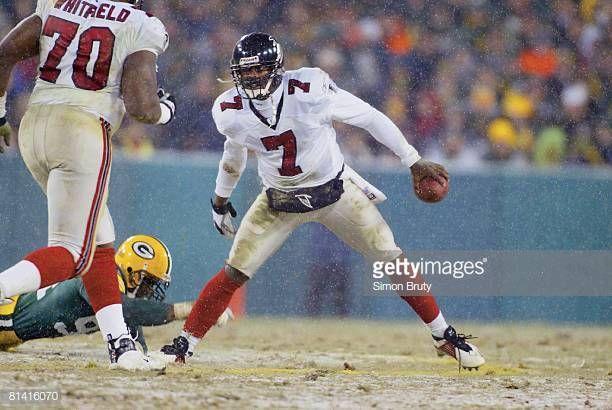 Nfc Playoffs Atlanta Falcons Qb Michael Vick In Action Vs Green Bay Michael Vick Atlanta Falcons Atlanta