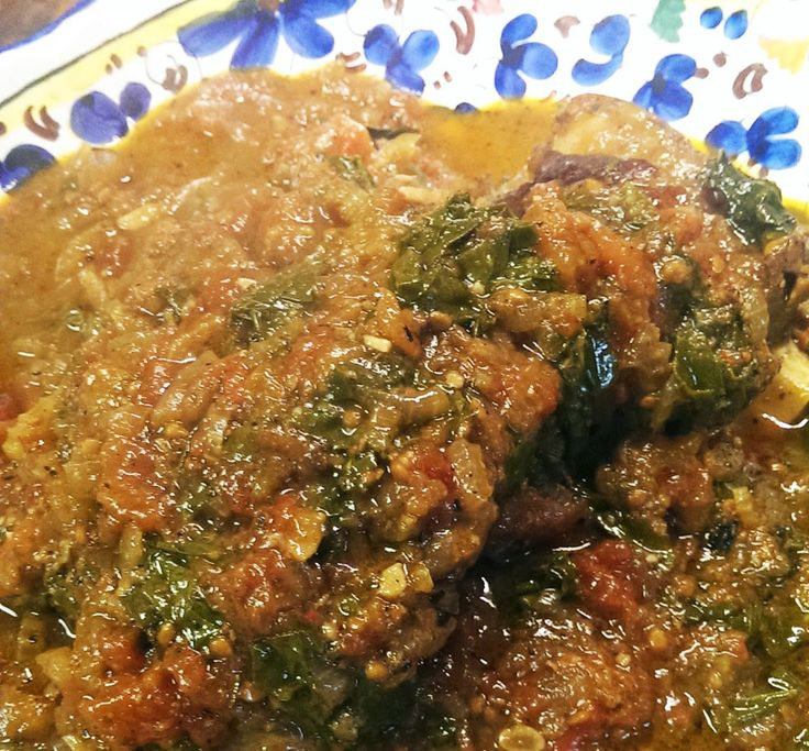 For the Love of Food: Braised Lamb Shoulder with Kale and Tomatoes