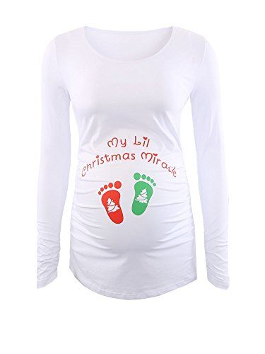 Jinson Women's Motherhood Maternity Tunic Tops Mama Clothes Flattering Side Ruching Long Sleeve Scoop Neck Christmas Pregnancy T-shirt  http://darrenblogs.com/us/2017/11/27/womens-motherhood-maternity-tunic-tops-christmas-santa-baby-mama-clothes-flattering-side-ruching-xmas-pregnancy-t-shirt/