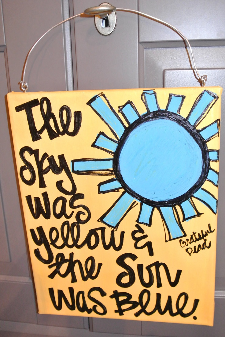 """Canvas - Grateful Dead - Scarlet Begonias - """"The Sky was Yellow and the Sun was Blue"""""""