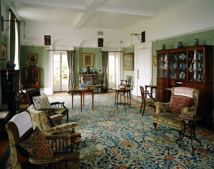 The Drawing Room at Standen, with its Morris and Morris-inspired furnishings