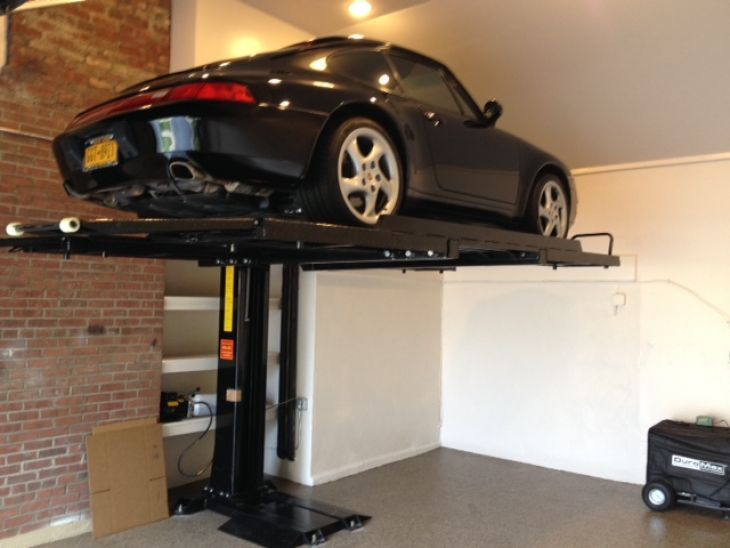 Garage Storage Lifts Diy Garage Storage Lift Snowmobile Storage