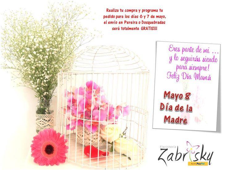 Realiza tu compra y programa tu pedido para los días 6 y 7 de mayo, el envío en Pereira o Dosquebradas será totalmente GRATIS!!!