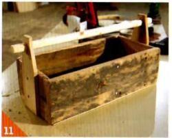 Ящик для инструментов из паллет чертеж
